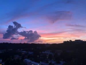 Grenada sunset, taken by Brittney Kilgore a vet student at SGU