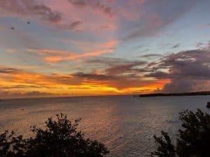 Grenada sunset. Grenada vet student