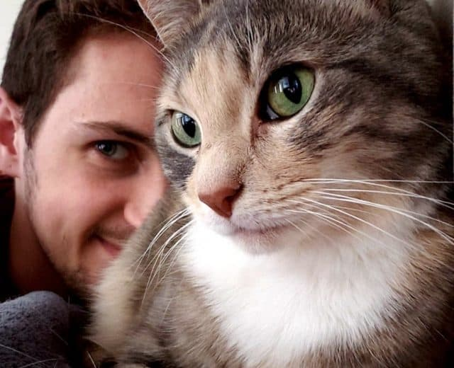 Virginia Tech Vet School student and their cat -Speedy