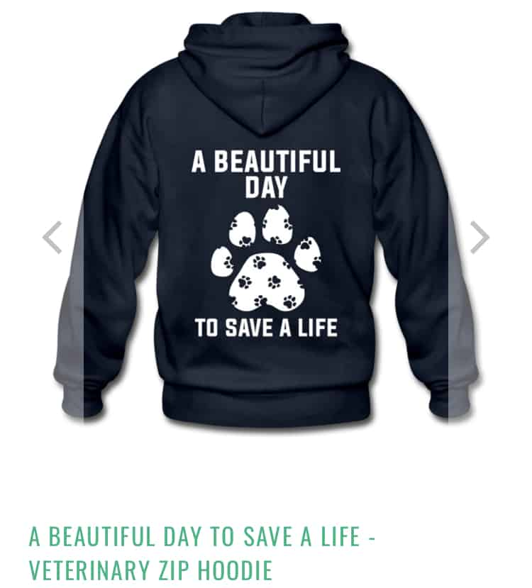 Black veterinary technician hoodie. Its a beautiful day to save a life.