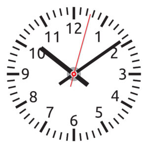 A watch with a red hand can help you count and easily see the seconds when working in the medical field.